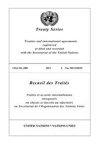 Cover Treaty Series 2888/Recueil des Traités 2888