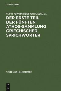 Cover Der erste Teil der fünften Athos-Sammlung griechischer Sprichwörter