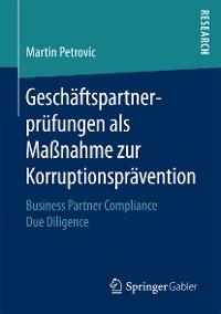 Cover Geschäftspartnerprüfungen als Maßnahme zur Korruptionsprävention