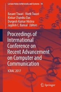Cover Proceedings of International Conference on Recent Advancement on Computer and Communication