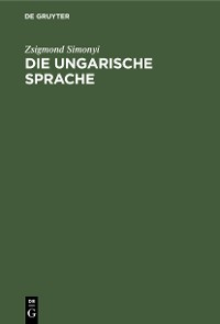 Cover Die ungarische Sprache