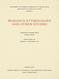 Cover Romance Etymologies and Other Studies by Carlton Cosmo Rice