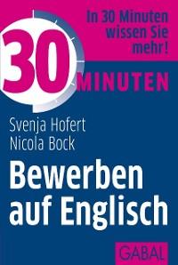 Cover 30 Minuten Bewerben auf Englisch