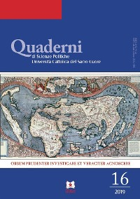 Cover Quaderni di Scienze Politiche 16 - 2019