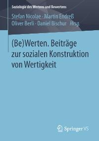 Cover (Be)Werten. Beiträge zur sozialen Konstruktion von Wertigkeit