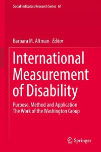 Cover International Measurement of Disability