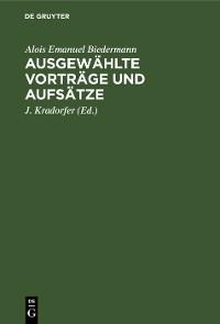Cover Ausgewählte Vorträge und Aufsätze