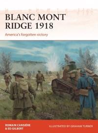 Cover Blanc Mont Ridge 1918