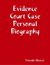 Cover Evidence Court Case Personal Biography