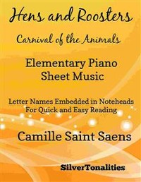 Cover Hens and Roosters Carnival of the Animals Elementary Piano Sheet Music