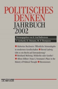 Cover Politisches Denken Jahrbuch 2002