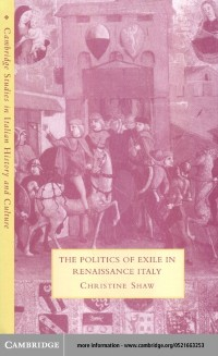 Cover Politics of Exile in Renaissance Italy