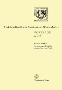Cover Verfassungsgerichtsbarkeit zwischen Recht und Politik