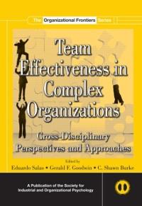 Cover Team Effectiveness In Complex Organizations