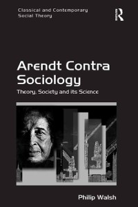 Cover Arendt Contra Sociology
