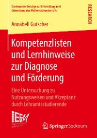 Cover Kompetenzlisten und Lernhinweise zur Diagnose und Förderung