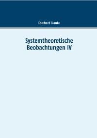 Cover Systemtheoretische Beobachtungen IV