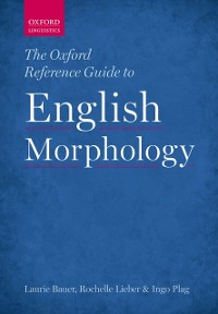 Cover Oxford Reference Guide to English Morphology