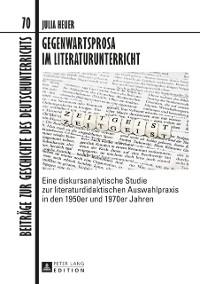 Cover Gegenwartsprosa im Literaturunterricht