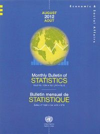 Cover Monthly Bulletin of Statistics, August 2012