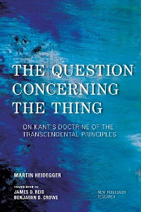 Cover The Question Concerning the Thing