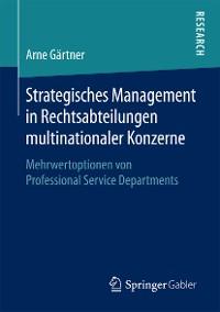 Cover Strategisches Management in Rechtsabteilungen multinationaler Konzerne