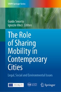 Cover The Role of Sharing Mobility in Contemporary Cities