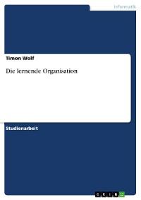Cover Die lernende Organisation