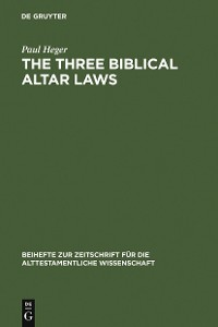 Cover The Three Biblical Altar Laws