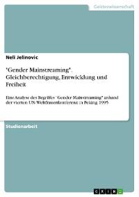 """Cover """"Gender Mainstreaming"""". Gleichberechtigung, Entwicklung und Freiheit"""
