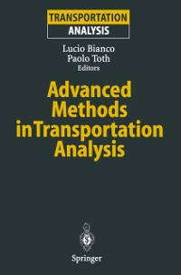 Cover Advanced Methods in Transportation Analysis