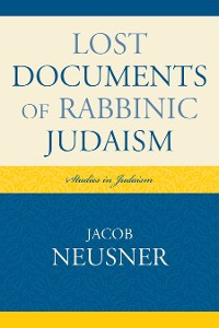 Cover Lost Documents of Rabbinic Judaism