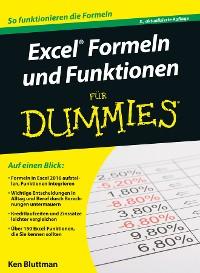 Cover Excel Formeln und Funktionen für Dummies