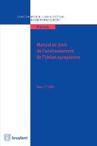 Cover Manuel de droit de l'environnement de l'UE