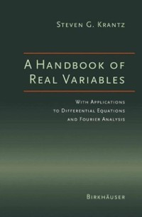 Cover Handbook of Real Variables