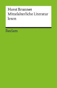 Cover Mittelalterliche Literatur lesen