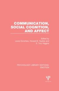 Cover Communication, Social Cognition, and Affect (PLE: Emotion)