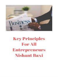Cover Key Principles For All Entrepreneurs
