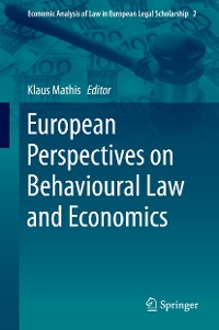 Cover European Perspectives on Behavioural Law and Economics