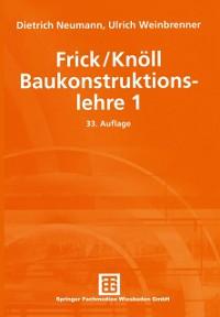 Cover Frick/Knoll Baukonstruktionslehre 1