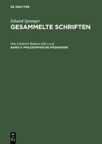 Cover Philosophische Pädagogik