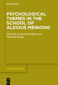 Cover Psychological Themes in the School of Alexius Meinong