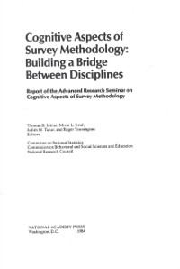 Cover Cognitive Aspects of Survey Methodology