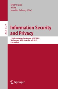 Cover Information Security and Privacy