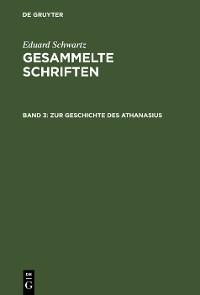 Cover Zur Geschichte des Athanasius