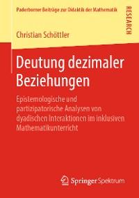 Cover Deutung dezimaler Beziehungen
