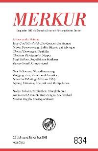 Cover MERKUR Gegründet 1947 als Deutsche Zeitschrift für europäisches Denken - 2018-11