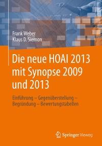 Cover Die neue HOAI 2013 mit Synopse 2009 und 2013