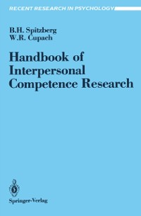 Cover Handbook of Interpersonal Competence Research