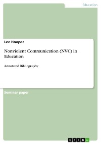 Cover Nonviolent Communication (NVC) in Education